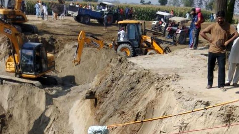 Child trapped in Punjab borewell for over 110 hours