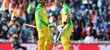 London: Australia's Steve Smith celebrates his half century during the 14th match of 2019 World Cup between India and Australia at Kennington Oval in London on June 9, 2019. (Photo: Surjeet Yadav/IANS)