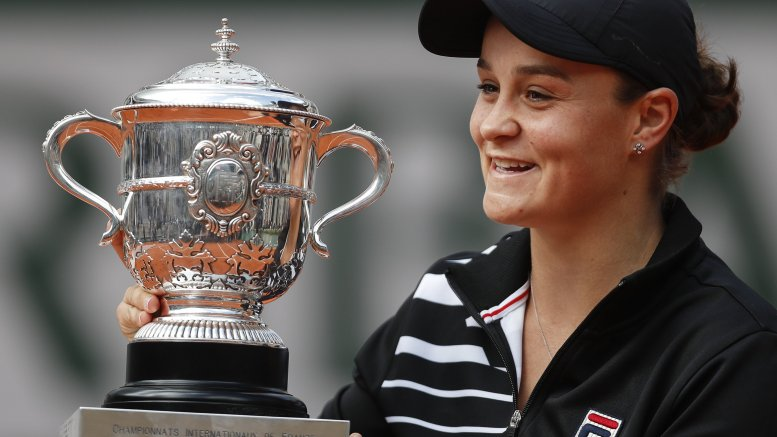 Barty up 6 places, set to challenge Osaka's throne