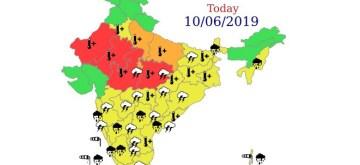 New Delhi: Weather Forecast for June 10, 2019. (Photo: IANS/IMD)