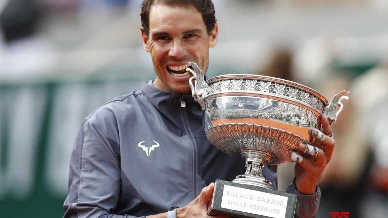 Rafael Nadal's 12 French Open trophies
