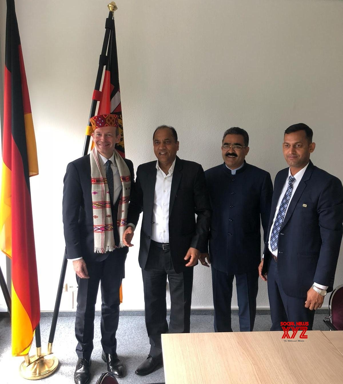 Frankfurt: Himachal CM meets Minister of Rhineland State in Germany #Gallery