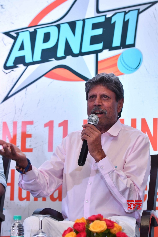 New Delhi: Kapil Dev at the launch of 'Apne 11' #Gallery