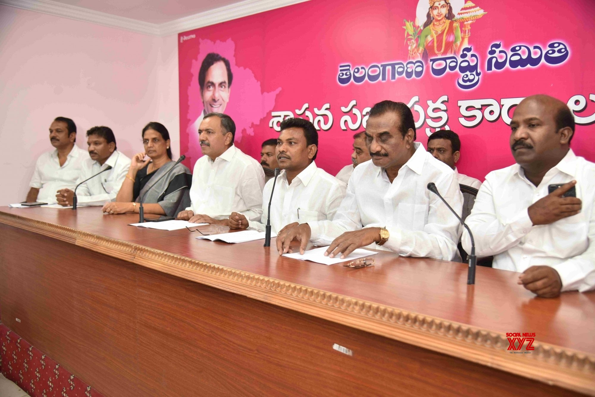 Hyderabad: TRS press conference #Gallery
