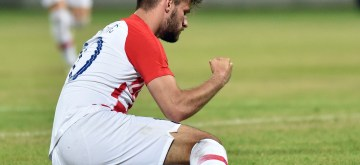 VARAZDIN, June 12, 2019 (Xinhua) -- Bruno Petkovic of Croatia reacts during a friendly football match between Croatia and Tunisia in Varazdin, Croatia, June 11, 2019. Tunisia won 2-1. (Xinhua/Vjeran Zganec Rogulja/IANS)
