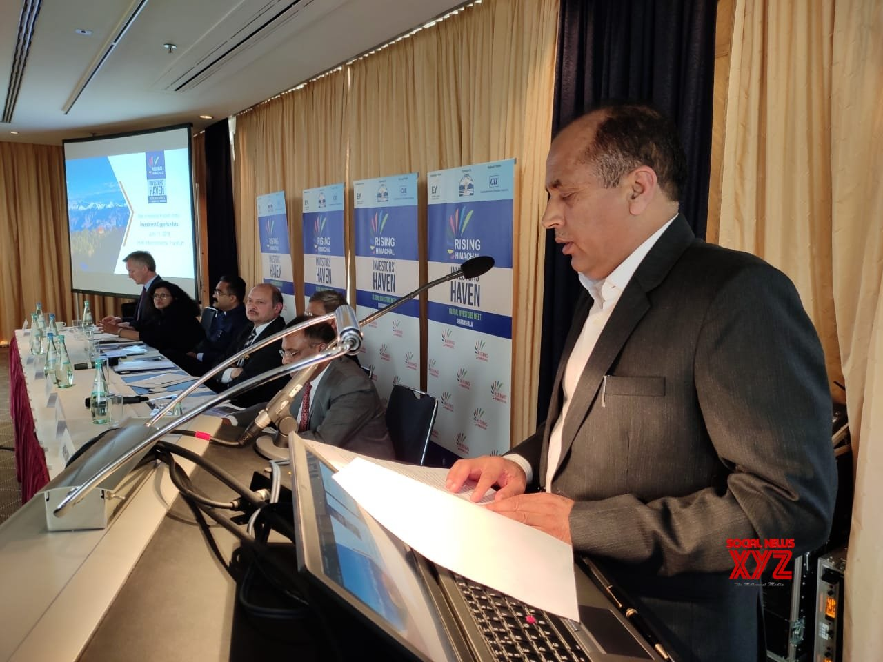 Frankfurt: Jai Ram Thakur invites entrepreneurs to invest in Himachal at a 'Road show' in Germany #Gallery
