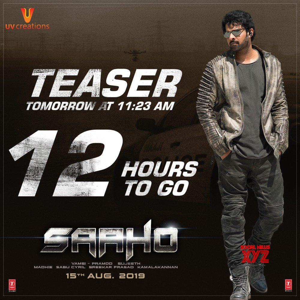Saaho Movie Teaser 12 Hours To Go Poster