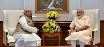 New Delhi: Bihar Governor Lalji Tandon meets Prime Minister Narendra Modi, in New Delhi on June 12, 2019. (Photo: IANS/PMO)