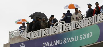 Nottingham: Indian cricket fans at Trent Bridge ahead of the 18th Match of World Cup 2019 between India and New Zealand that has been delayed due to rains in Nottingham, England on June 13, 2019. (Photo: Surjeet Yadav/IANS)