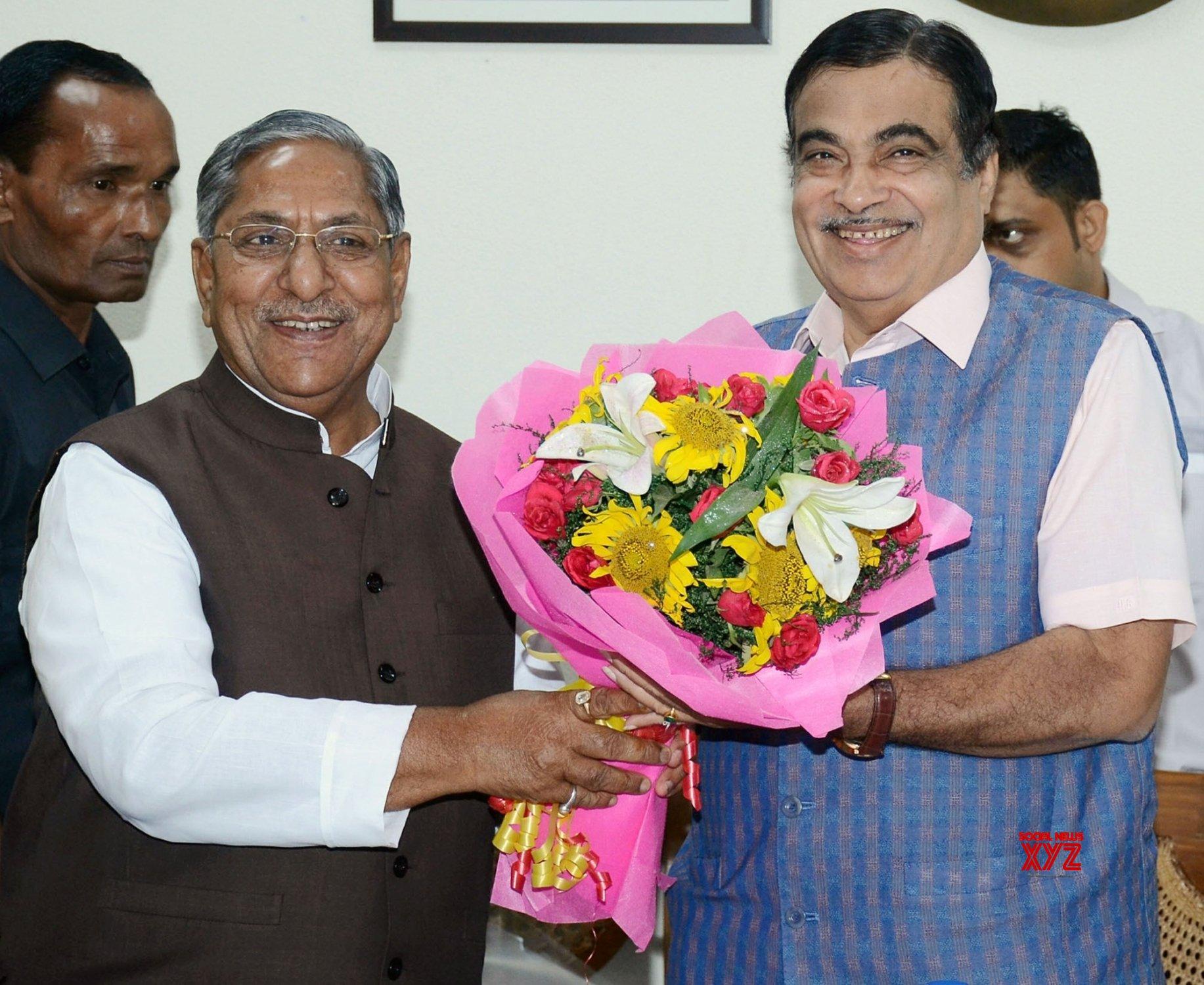 New Delhi: Bihar Road Minister meets Nitin Gadkari #Gallery
