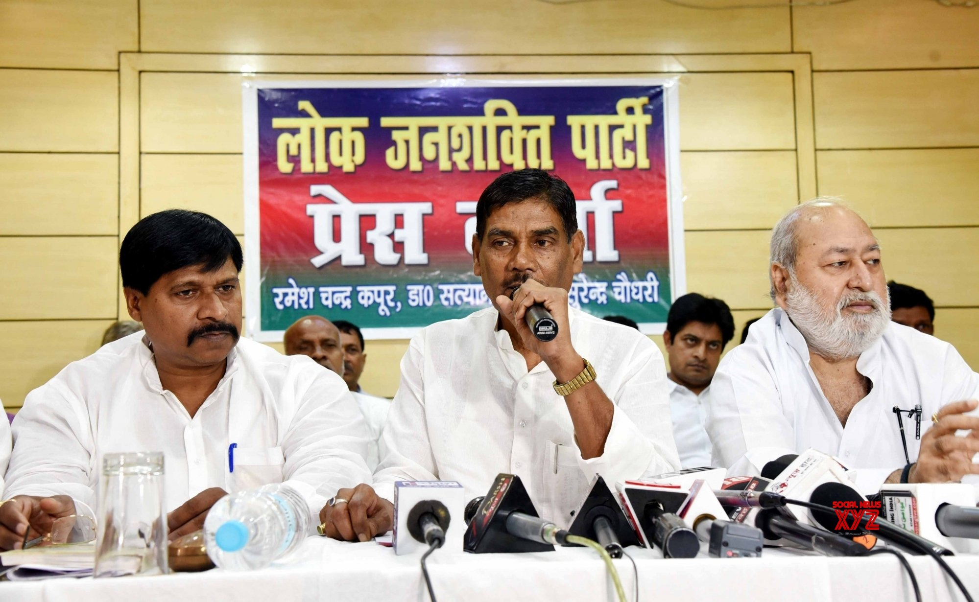 Patna: Satyanand Sharma's press conference #Gallery