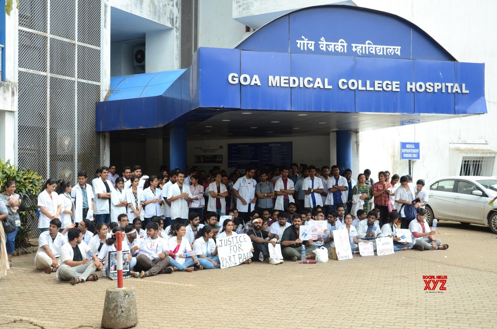 Bambolim: Goa doctors protest in solidarity with Kolkata medicos #Gallery