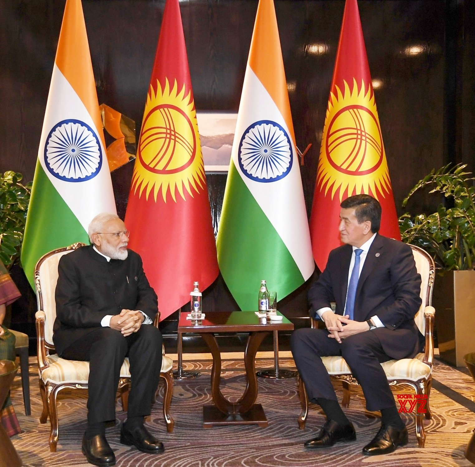 Bishkek (Kyrgyzstan): PM Modi meets Kyrgyzstan President #Gallery
