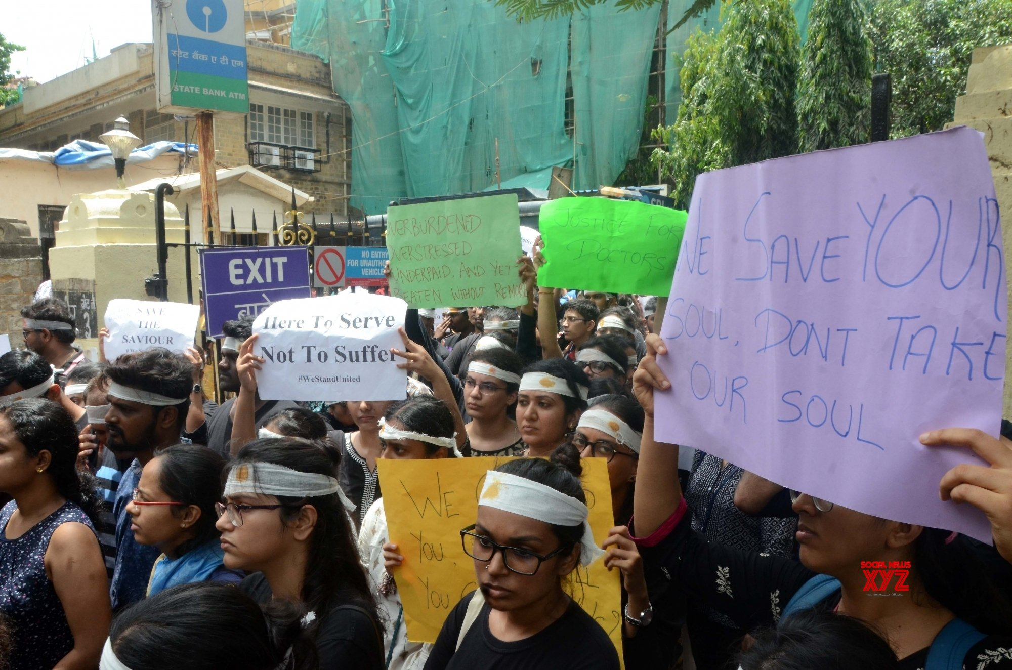 Mumbai: Maharashtra medicos protest against attack on doctors #Gallery