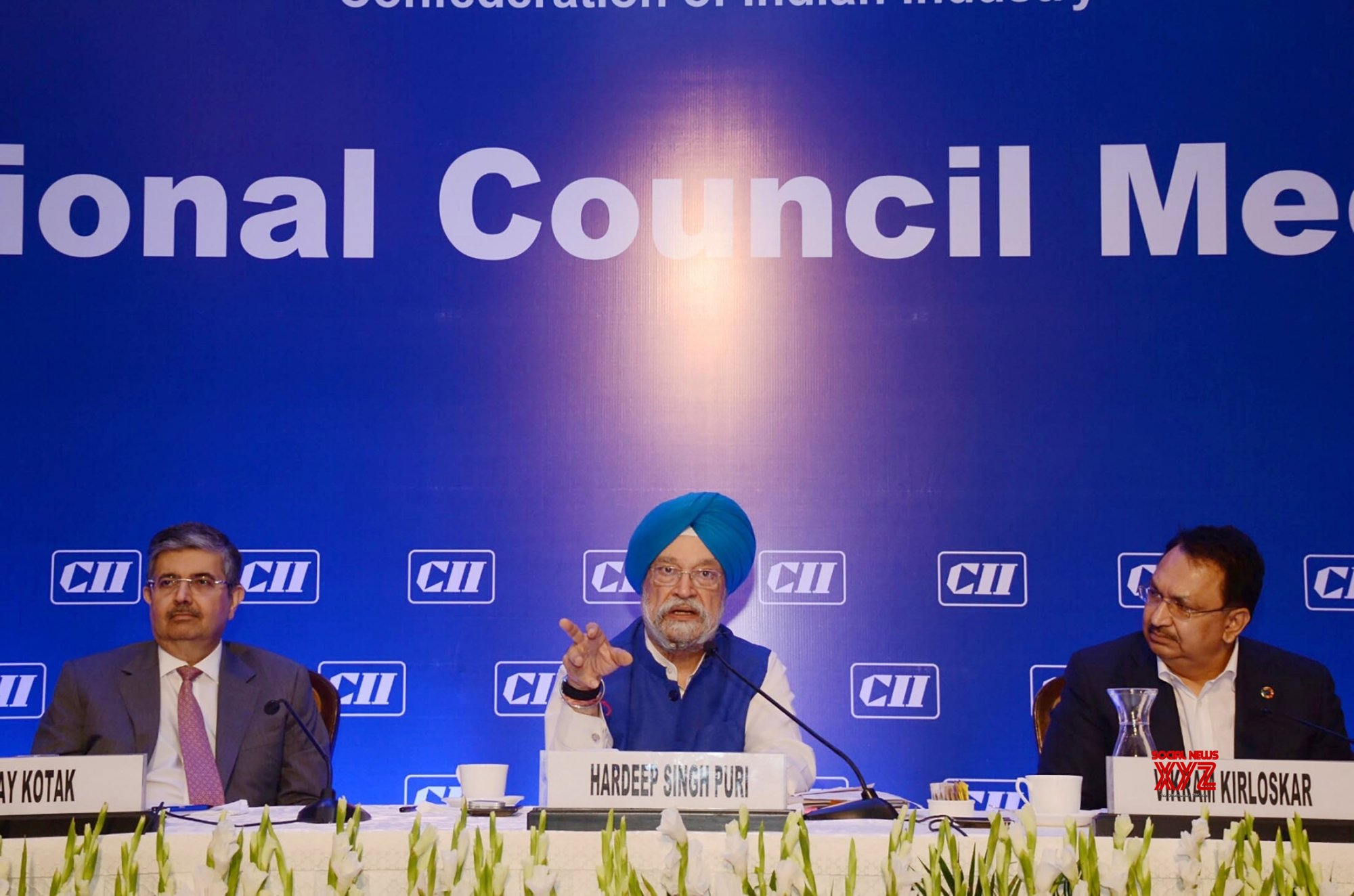 New Delhi: Hardeep Singh Puri at the National Council Meeting of CII #Gallery