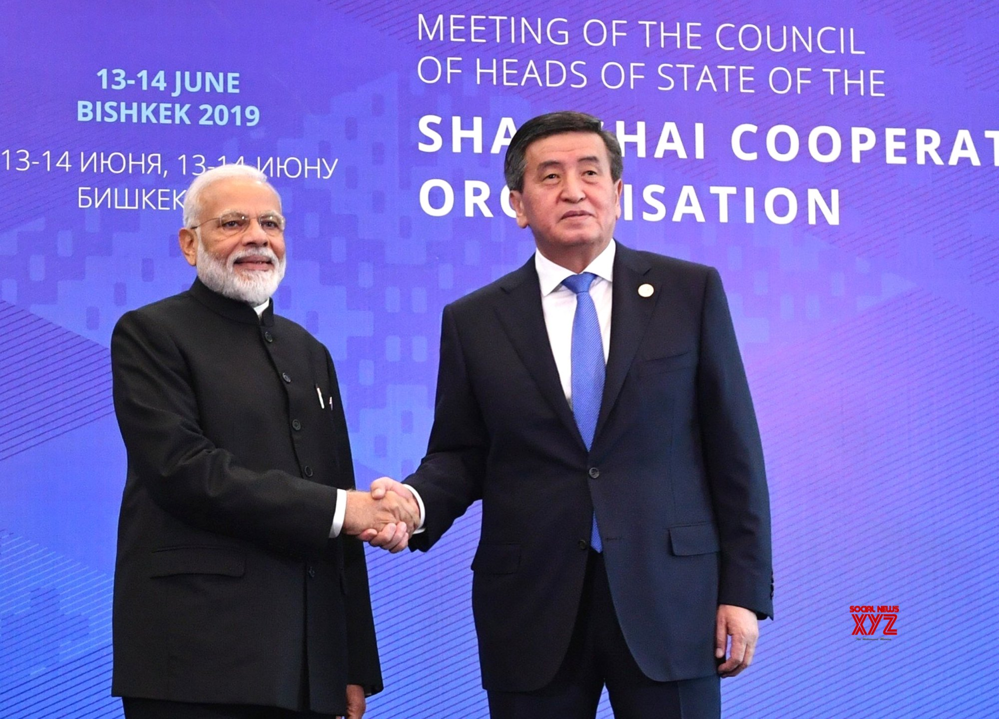 Bishkek: PM Modi welcomed by Kyrgyzstan President at the SCO Summit #Gallery