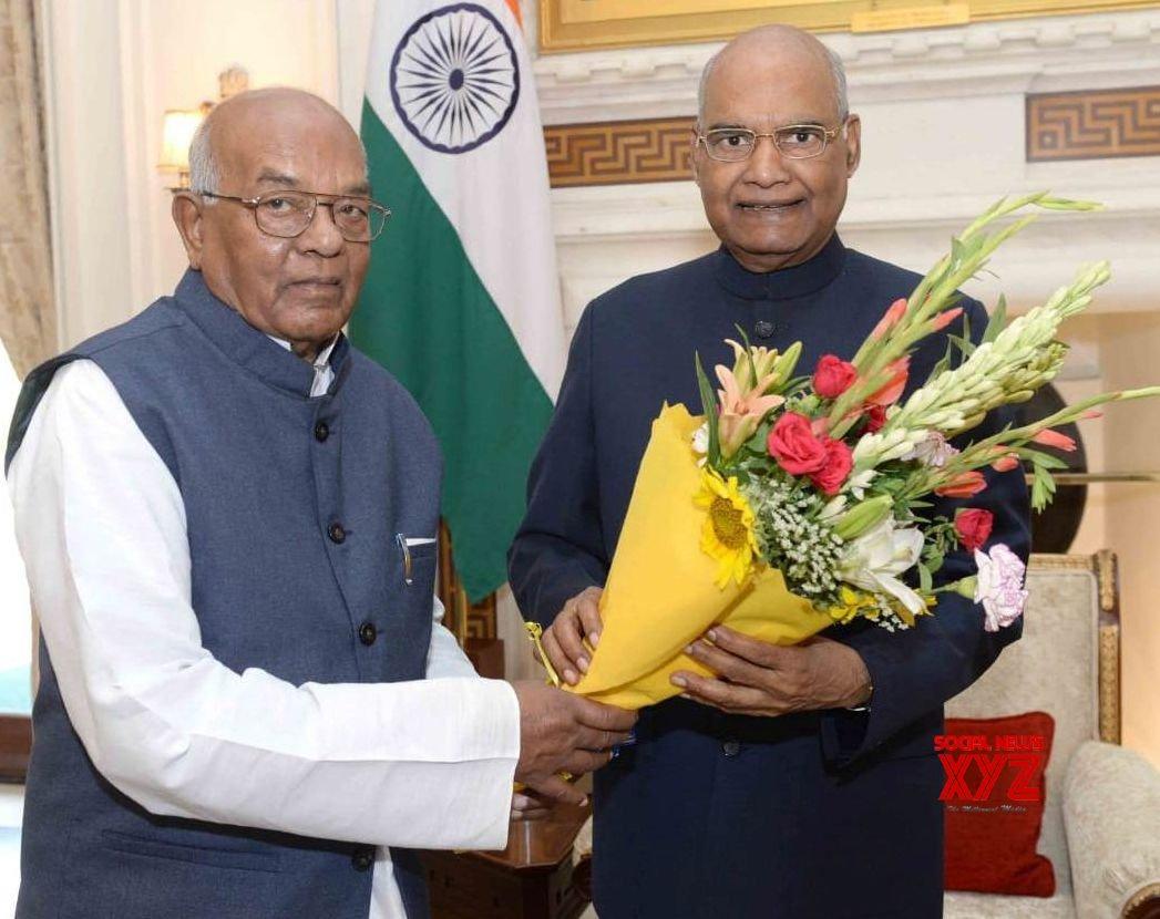 New Delhi: Haryana Governor meets President Kovind #Gallery