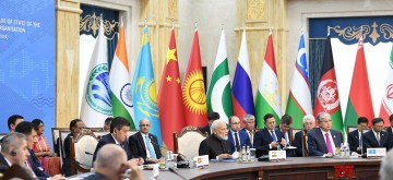 Bishkek: Prime Minister Narendra Modi at the delegation level meeting of the 2019 Shanghai Cooperation Organization (SCO) Summit in Bishkek, Kyrgyzstan on June 14, 2019. (Photo: IANS/PIB)