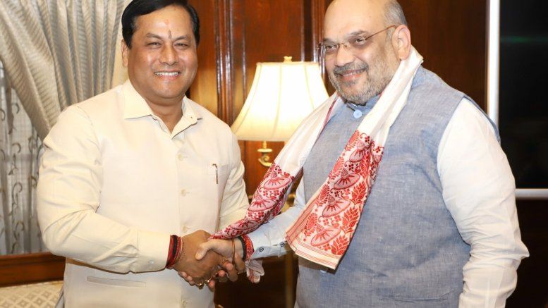 Assam CM discusses state's issues with Shah, Rajnath