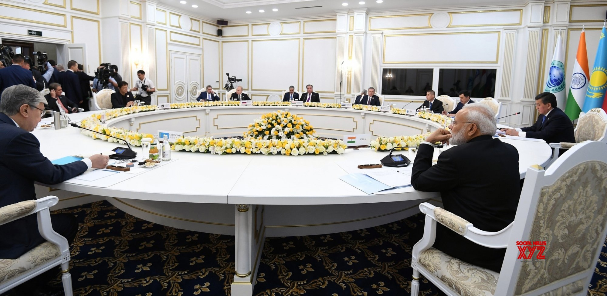 Bishkek: PM Modi at the Restricted Session of 2019 SCO Summit in Kyrgyzstan #Gallery