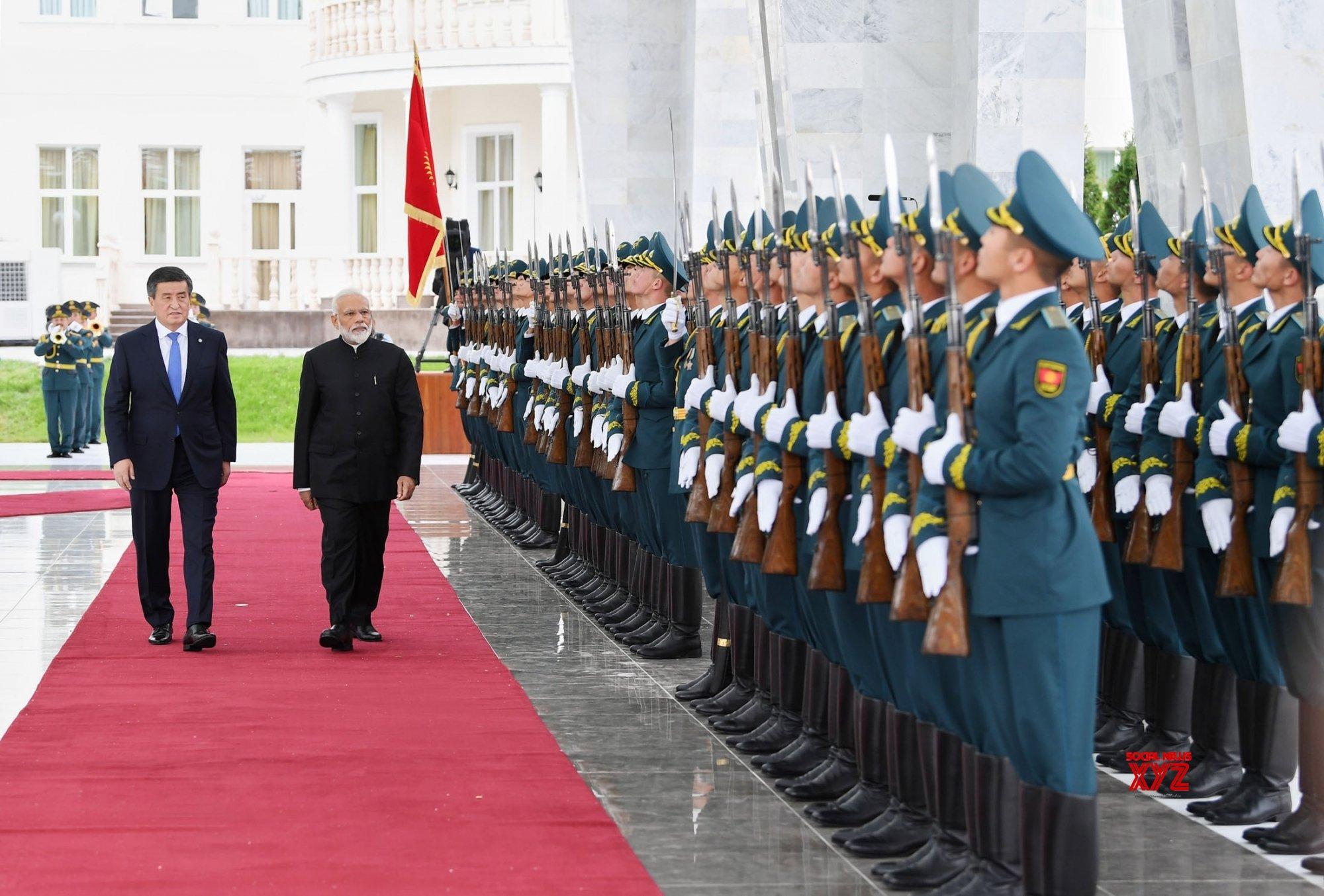 Bishkek (Kyrgyzstan): PM Modi receives ceremonial welcome in Kyrgyzstan #Gallery