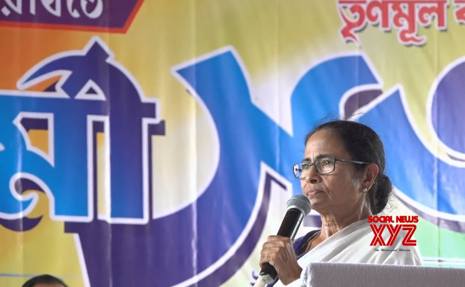 Kanchrapara: Mamata Banerjee during a Trinamool Congress workers' meeting #Gallery