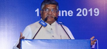 New Delhi: Union Law and Justice, Communications and Electronics and Information Technology Minister Ravi Shankar Prasad addresses the National Council Meeting of Confederation of Indian Industry (CII), in New Delhi on June 14, 2019. (Photo: IANS/PIB)