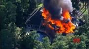 Fire destroys massive Texas mansion, 2 hurt  (Video)