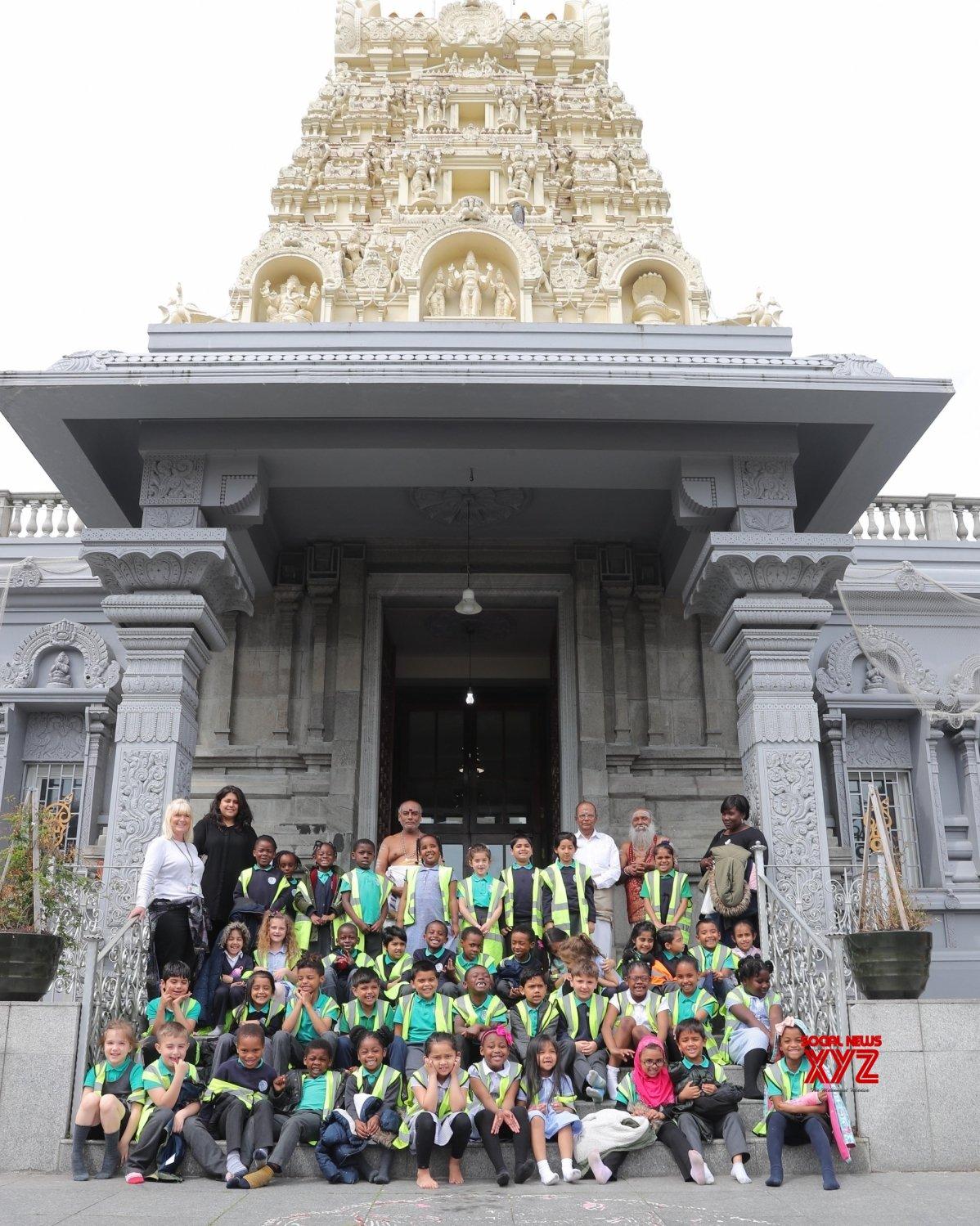 London: School children visit London Murugan Temple #Gallery