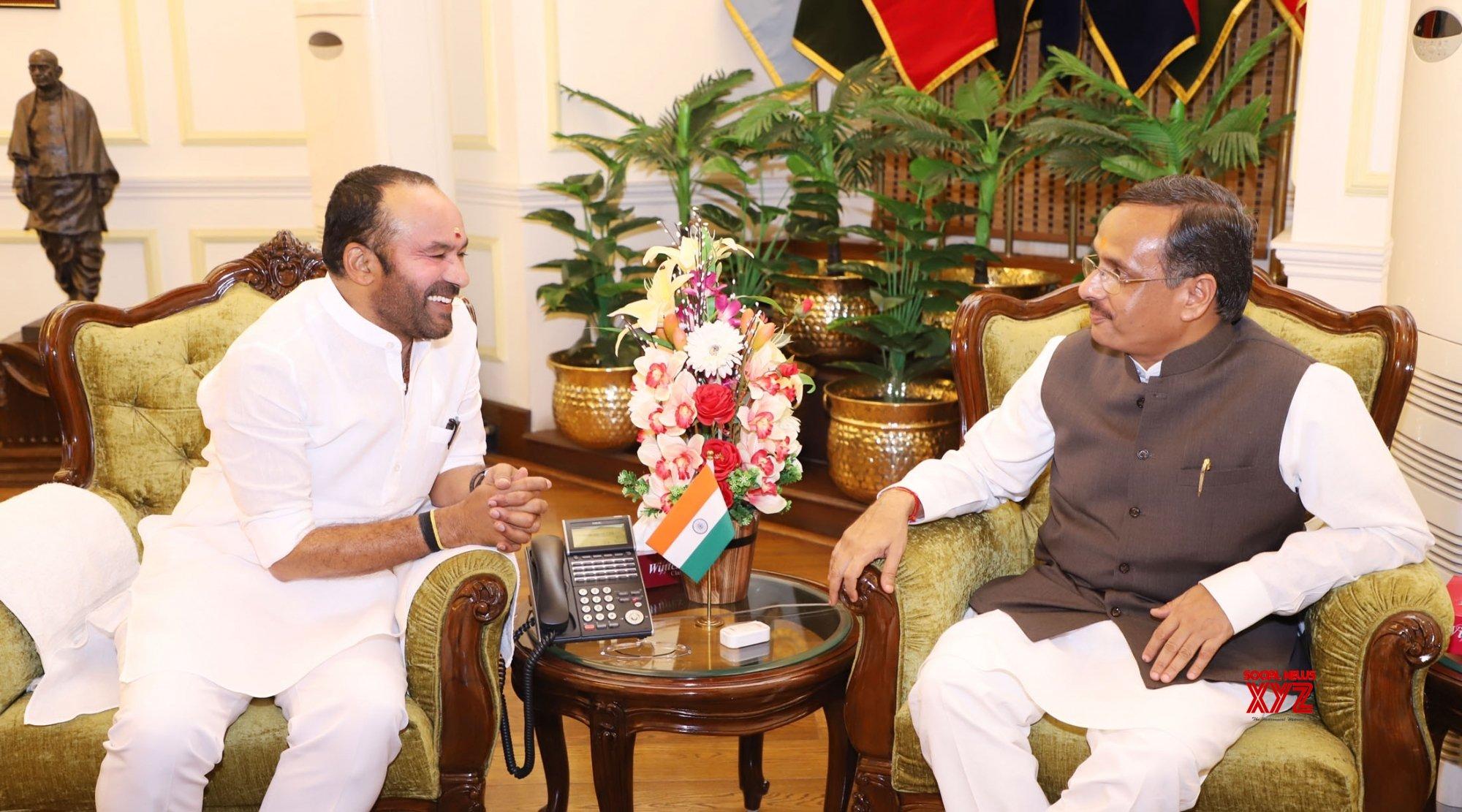 New Delhi: UP Deputy CM calls on G. Kishan Reddy #Gallery