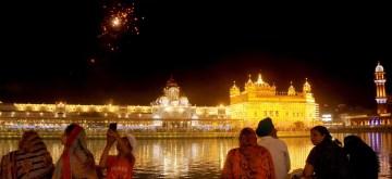 Amritsar: Fireworks at the Golden Temple on the occasion of Prakash Purab of the 6th Sikh Guru Hargobind Sahib, in Amritsar on June 18, 2019. (Photo: IANS)