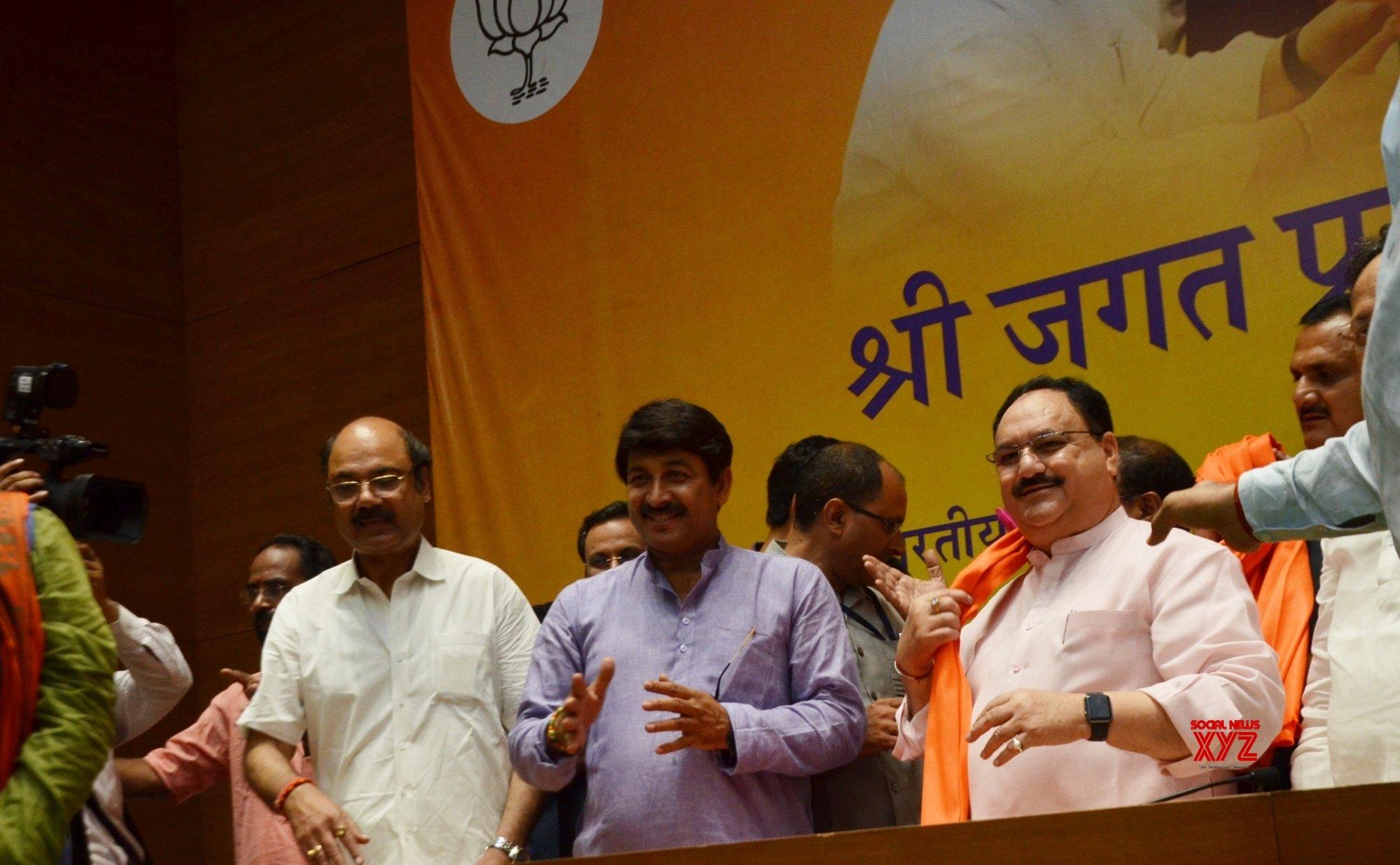 New Delhi: J.P. Nadda's felicitation programme #Gallery