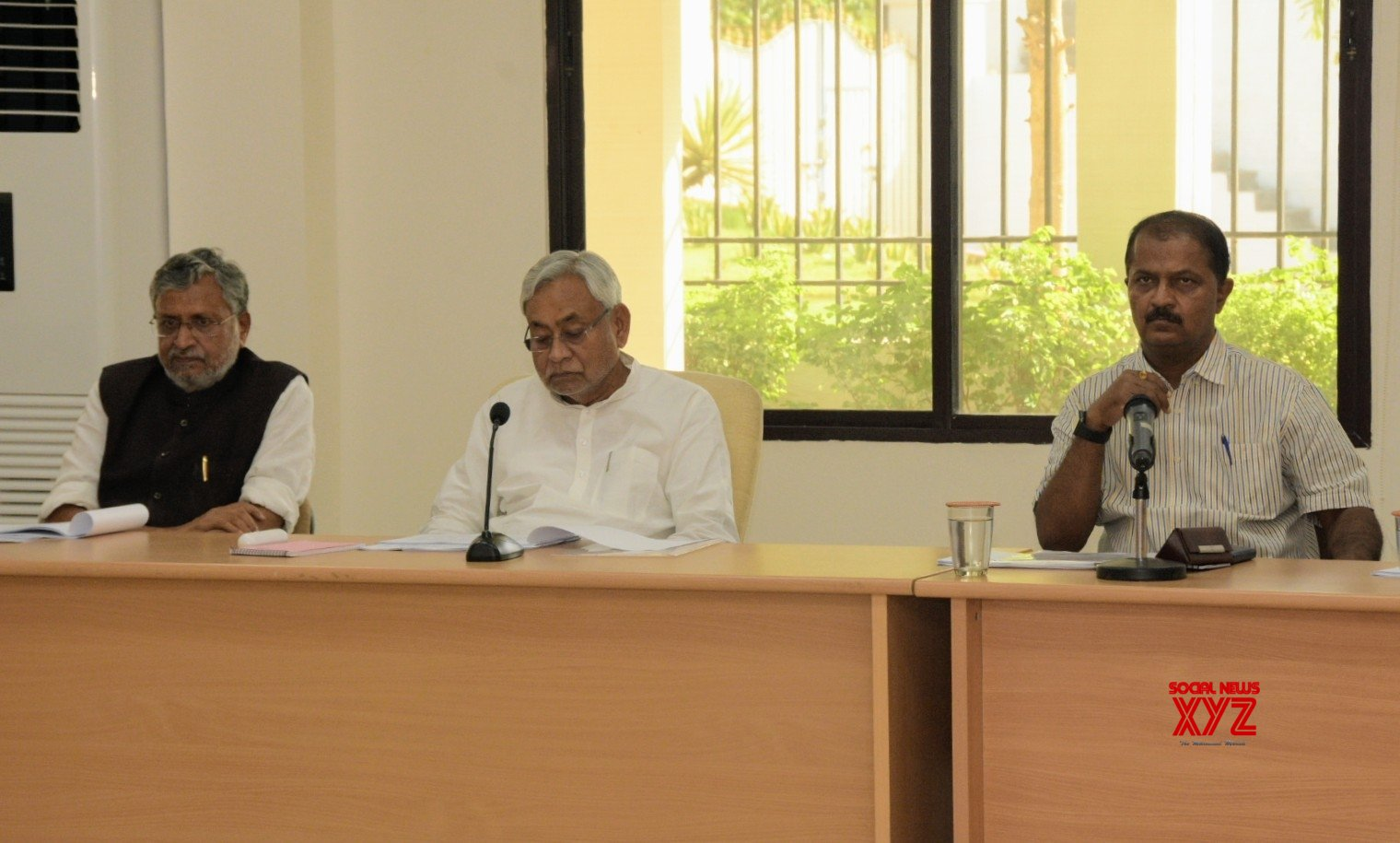 Patna: Nitish Kumar during a review meeting of Finance department #Gallery