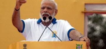 Ranchi: Prime Minister Narendra Modi addresses during International Yoga Day 2019 celebrations at Prabhat Tara Maidan in Ranchi on June 21, 2019. (Photo: IANS)