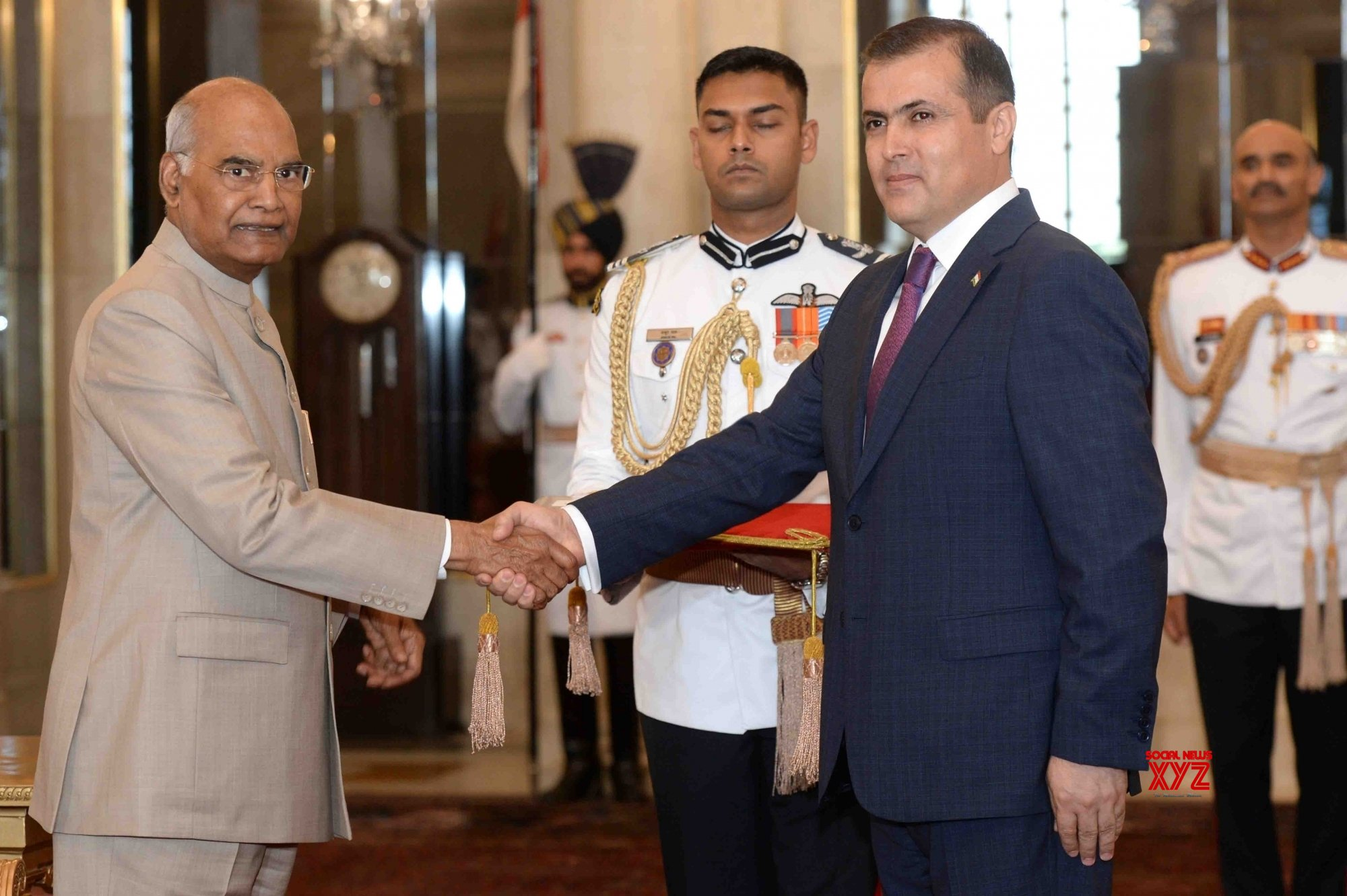 New Delhi: Tajikistan's Ambassador - designate presents credentials to President Kovind #Gallery