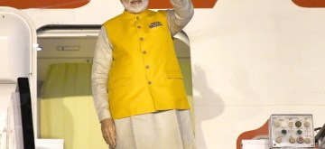 New Delhi: Prime Minister Narendra Modi emplanes for Osaka, Japan to attend the G-20 Summit from New Delhi on June 26, 2019. (Photo: IANS/PIB)