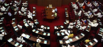 Bhubaneswar: Odisha Assembly session underway in Bhubaneswar on July 2, 2019. (Photo: IANS)
