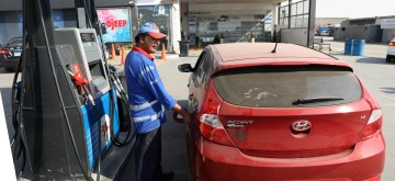 CAIRO, July 5, 2019 (Xinhua) -- A man refuels a car at a gas station in Cairo, Egypt on July 5, 2019. Egypt on Friday hiked fuel prices by up to 30 percent to meet the terms of a loan deal of 12 billion U.S. dollars and push implementing the economic reform plans, the Ministry of Petroleum said in a statement. (Xinhua/Ahmed Gomaa/IANS)
