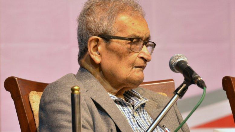 Billboards with Amartya Sen's comments against 'Jai Shri Ram' slogan appear in Kolkata
