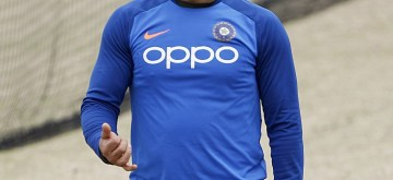 Leeds: India's MS Dhoni during a practice session ahead of their World Cup 2019 match against Sri Lanka at Headingley Stadium in Leeds, England on July 5, 2019. (Photo: Surjeet Yadav/IANS)