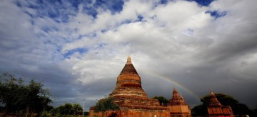 BAGAN, July 7, 2019 (Xinhua) -- Pagodas are seen in the ancient city of Bagan, Myanmar, July 6, 2019. (Xinhua/U Aung/IANS)