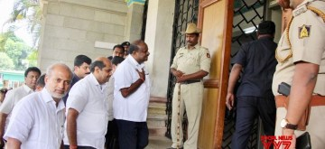 Bengaluru: Karnataka Chief Minister HD Kumaraswamy arrives at Vidhana Soudha in Bengaluru on July 11, 2019. (Photo: IANS)