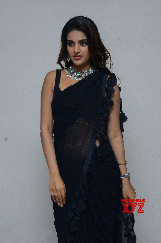Actress Nidhhi Agerwal Stills From ISmart Shankar Movie Pre Release Press Meet