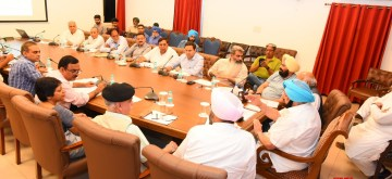 Chandigarh: Punjab Chief Minister Captain Amarinder Singh during a meeting on water wastage in Chandigarh on July 11, 2019. (Photo: IANS)