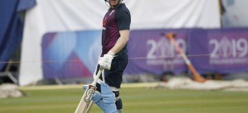 London: English captain Eoin Morgan during a practice session ahead of the final match of World Cup 2019 against New Zealand at Lord's cricket ground in London, on July 13, 2019. (Photo: Surjeet Kumar/IANS)