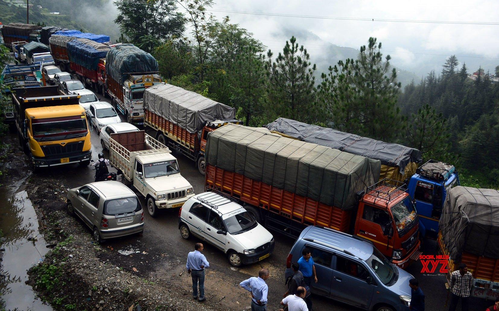 Massive mudslides block Chandigarh-Shimla highway
