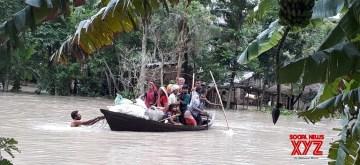 Forbesganj: Floods in Forbesganj, Bihar on July 14, 2019. (Photo: IANS)