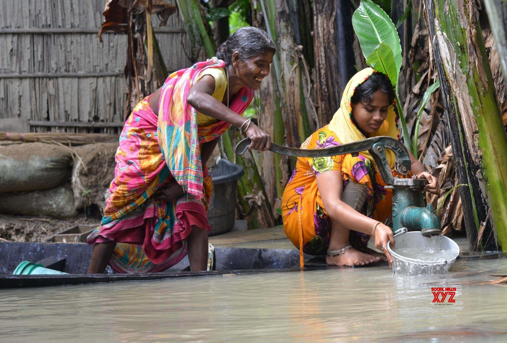 Morigaon (Assam): Women busy collecting water #Gallery