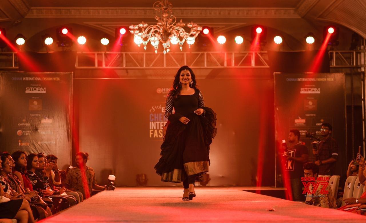 Actress Mrudula Murali Stills From Chennai International Fashion Week