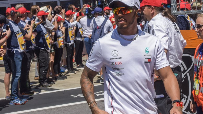 Hamilton unveils new helmet in support of 'BLM' movement